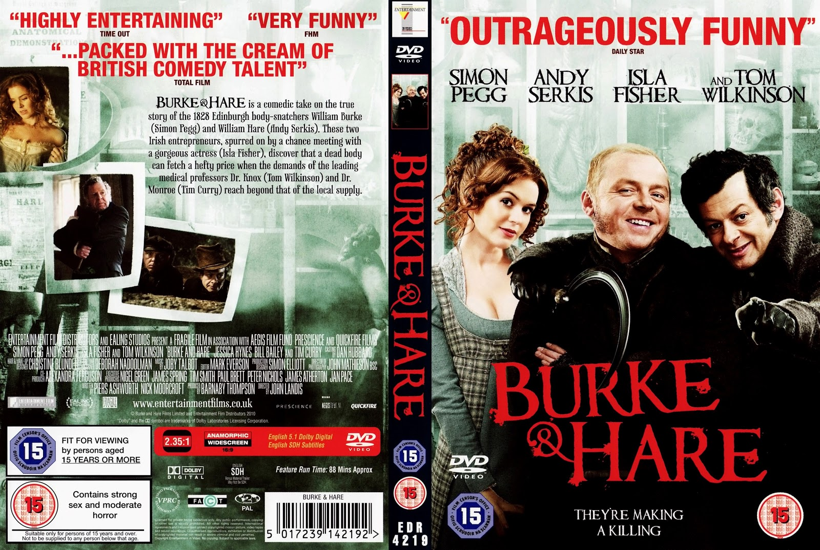 Burke And Hare Dvd Cover Cover Addict Free Dvd Bluray