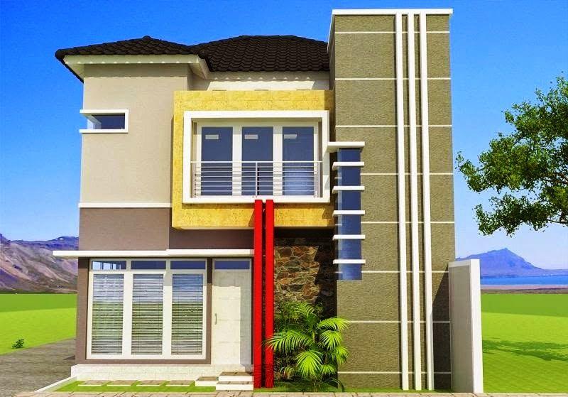 Model Desain Rumah Minimalis Tampak Depan 2 Lantai