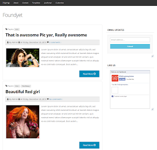 Foundyet Responsive Blogger Template