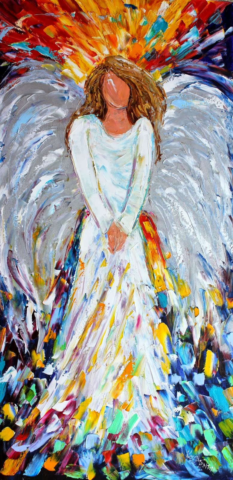 Karen Tarlton Original oil painting Christmas Angel by