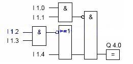 Siemens S7-300 PLC Logic inversion ladder diagram