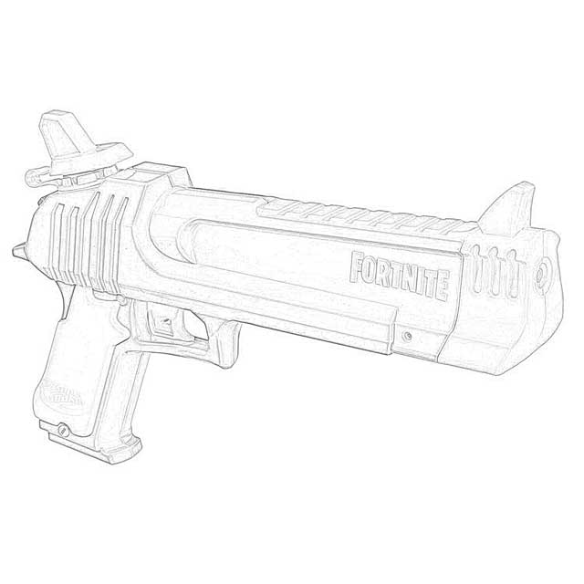 The Holiday Site: Coloring Pages Nerf Fortnite Blasters Downloadable And  Free