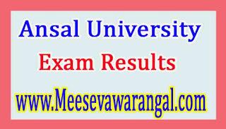 Ansal University B.Des (FT/ID/PD / VC) Ist Sem 2016 Exam Results