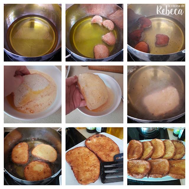 Receta de torrijas de leche: la fritura