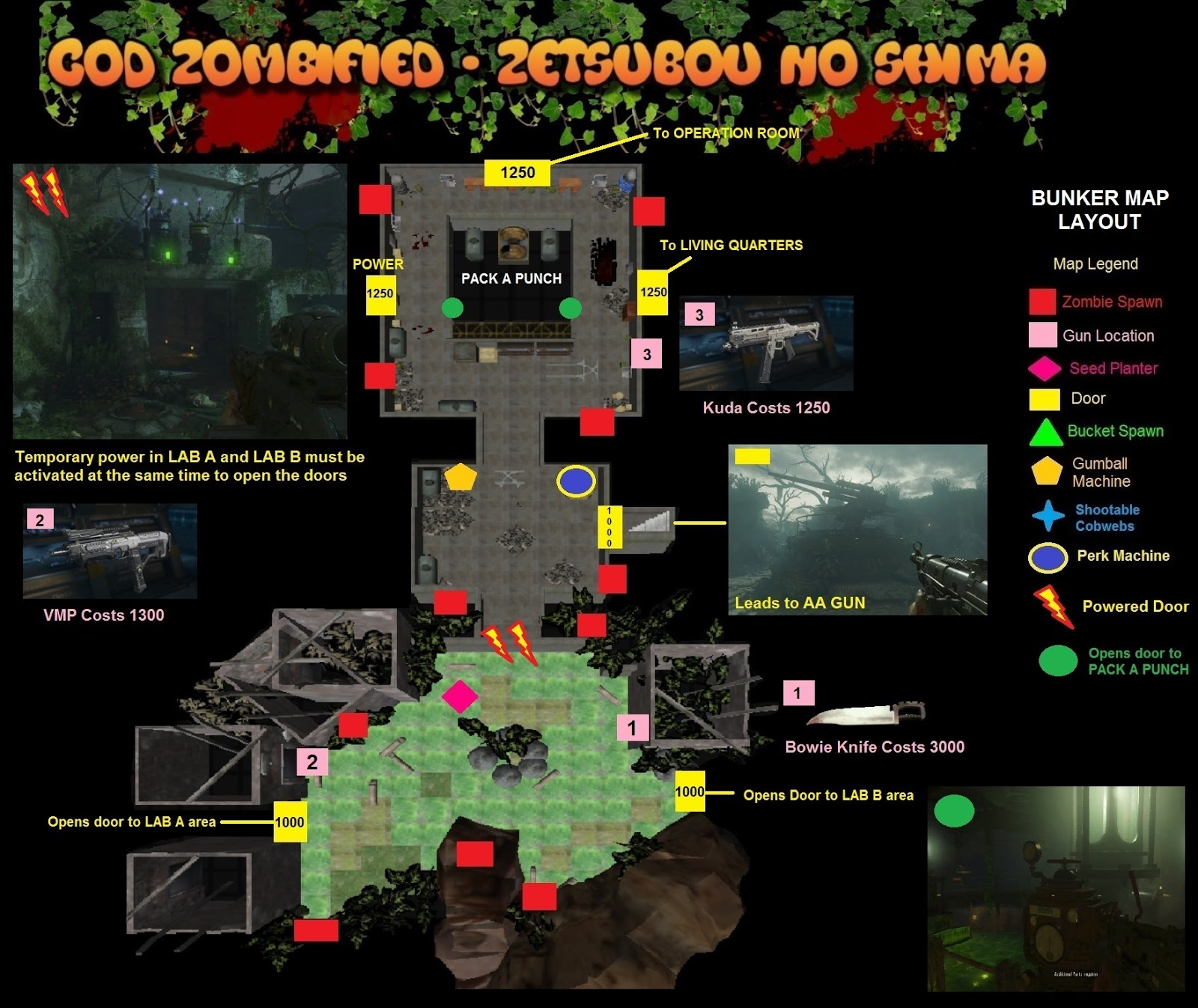 Zombified call of duty zombie map layouts secrets for Floor 5 boss map