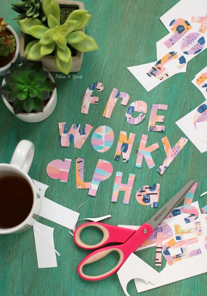 FREE Printable Wonky Alphabet