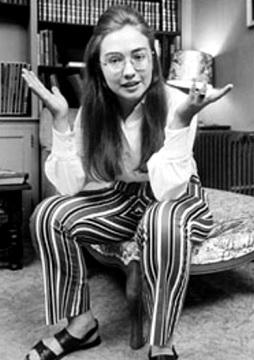 Foto de Hillary Clinton con cabello largo