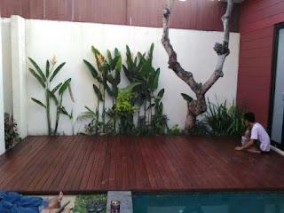 Gambar Pemasangan Decking kayu