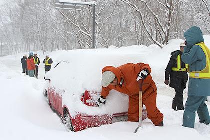 蔵王温泉 避難所に115人 大雪の影響