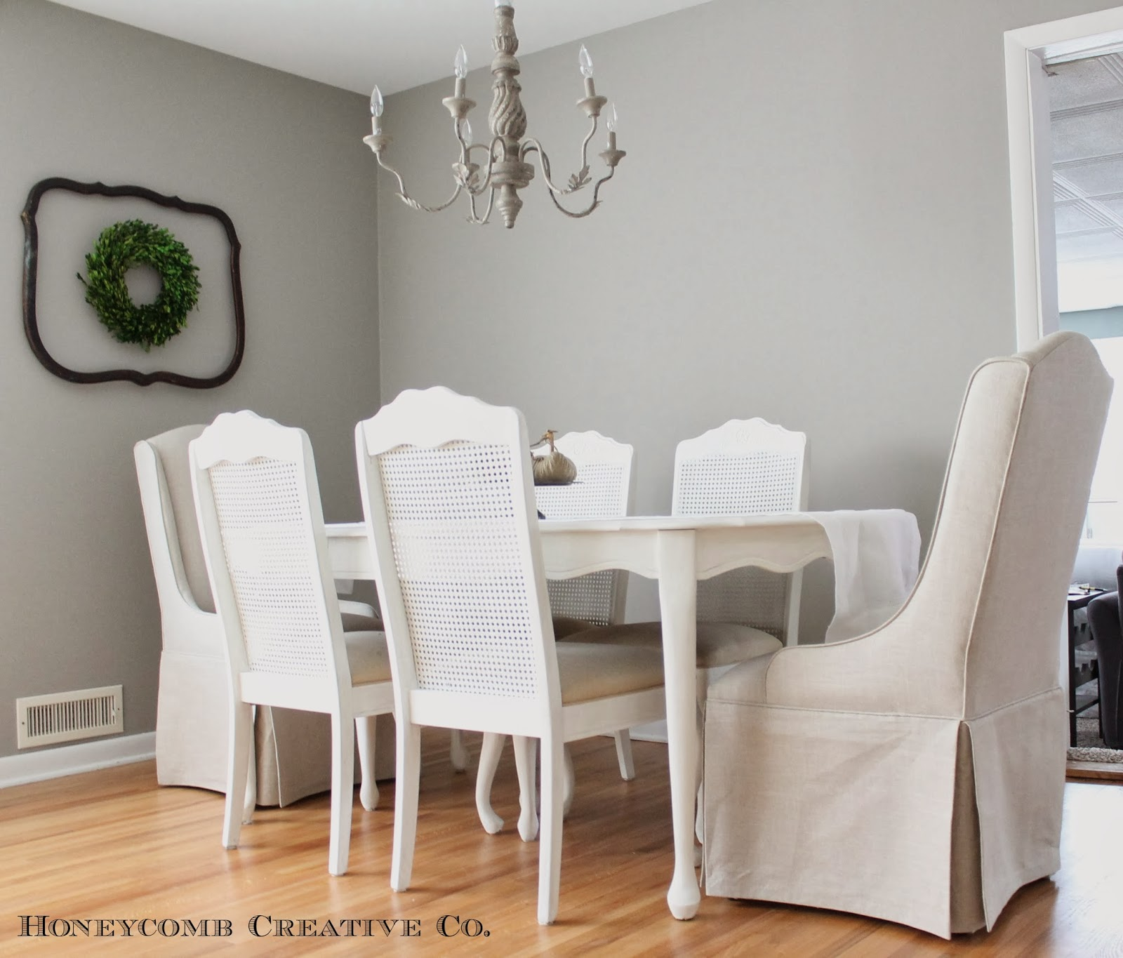 12th and white our dining room and painted table. Black Bedroom Furniture Sets. Home Design Ideas