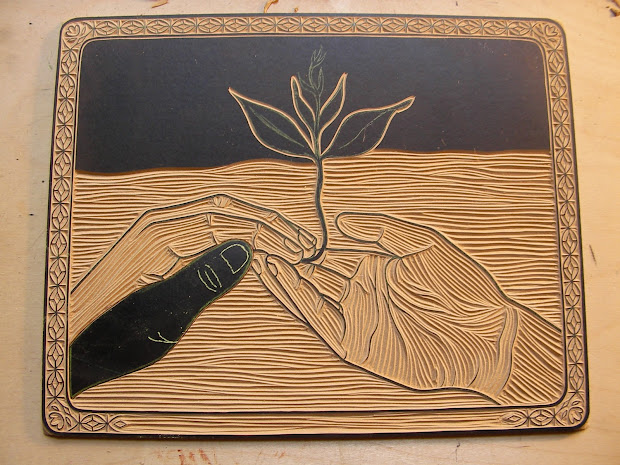 Linoleum Carving Prints