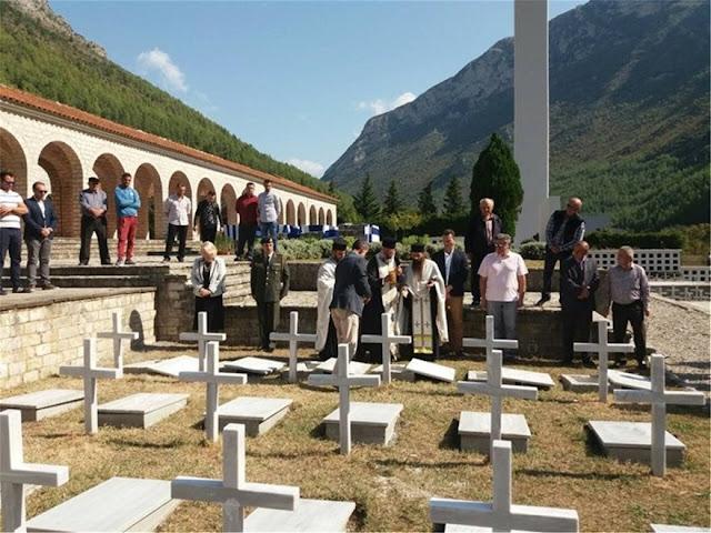 Ενταφιάσθηκαν 573 πεσόντες του '40 στο Στρατιωτικό Κοιμητήριο Κλεισούρας