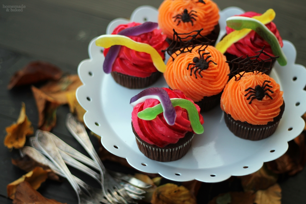 homemade and baked food blog zweierlei halloween cupcakes. Black Bedroom Furniture Sets. Home Design Ideas