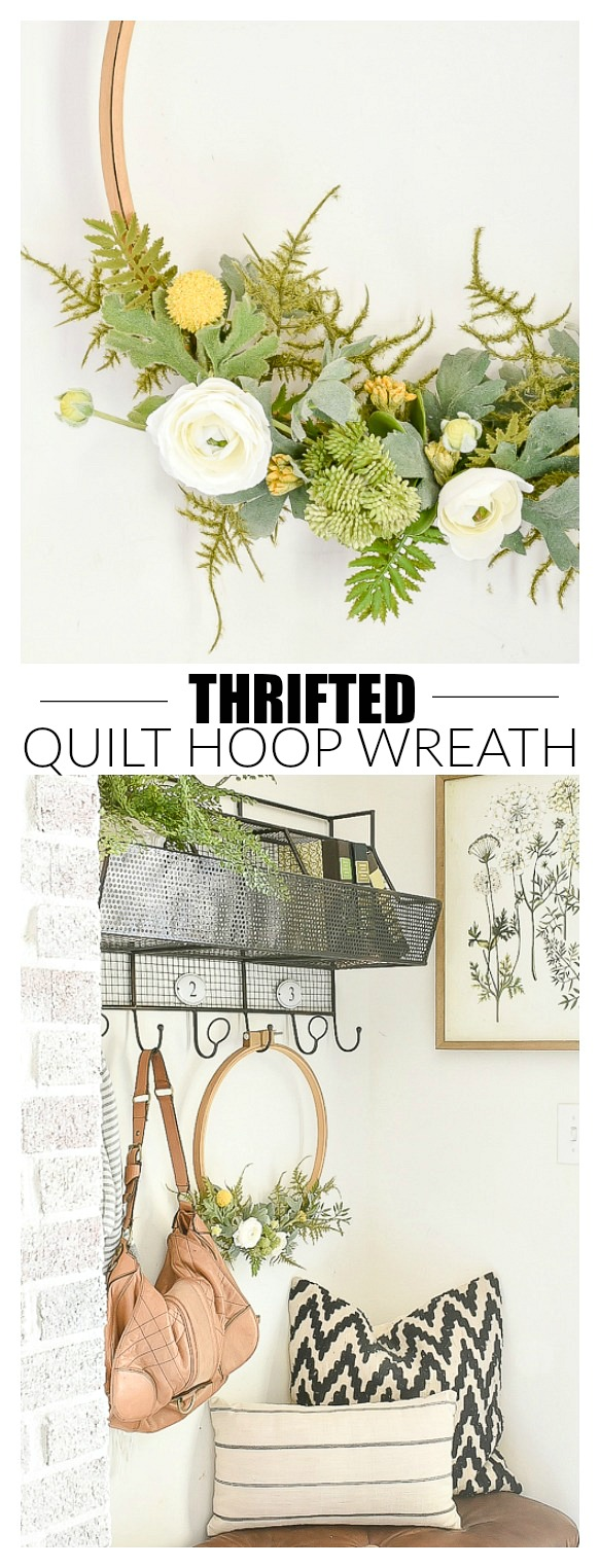 thrifted vintage hoop wreaths
