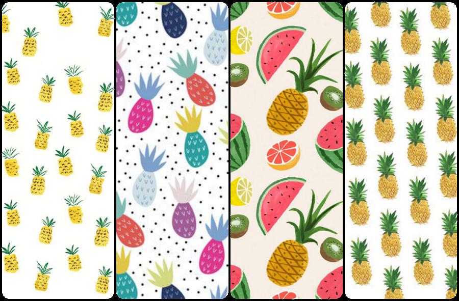 fondo de pantalla whatsapp piñas pineapple fruit wallpaper iphone