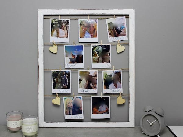 DIY: ausgefallener Bilderrahmen mit Fotos im Polaroid-Stil selber machen - die perfekte Wanddeko