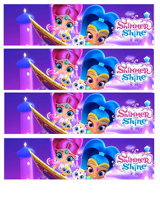 Shimmer and Shine water bottle labels