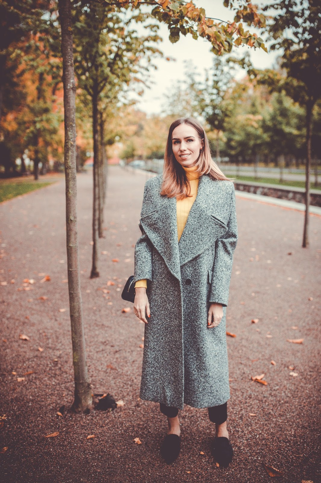 max co grey wool coat outfit