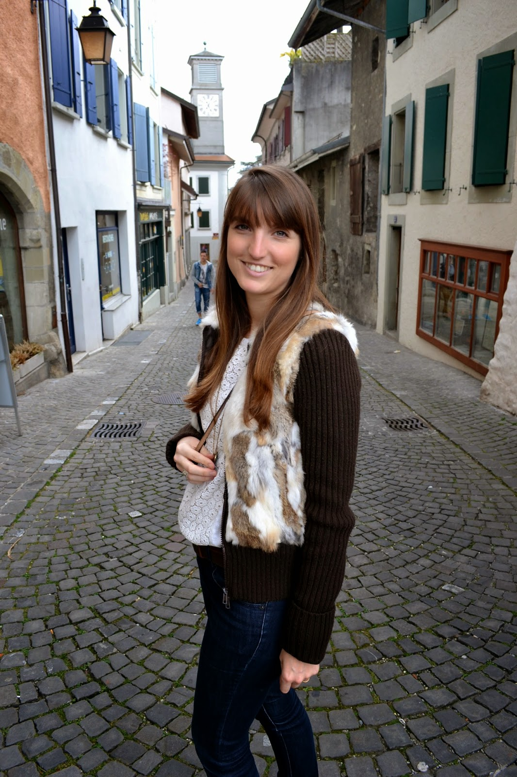 Look de sábado casual chic en riviera suiza