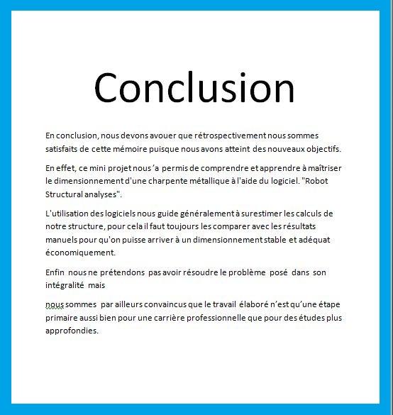 8 Exemples D Introduction Remerciement Et Conclusion De Pfe
