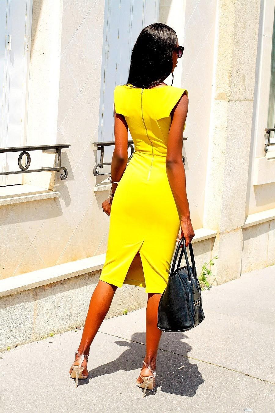 robe-moulante-midi-working-girl-style