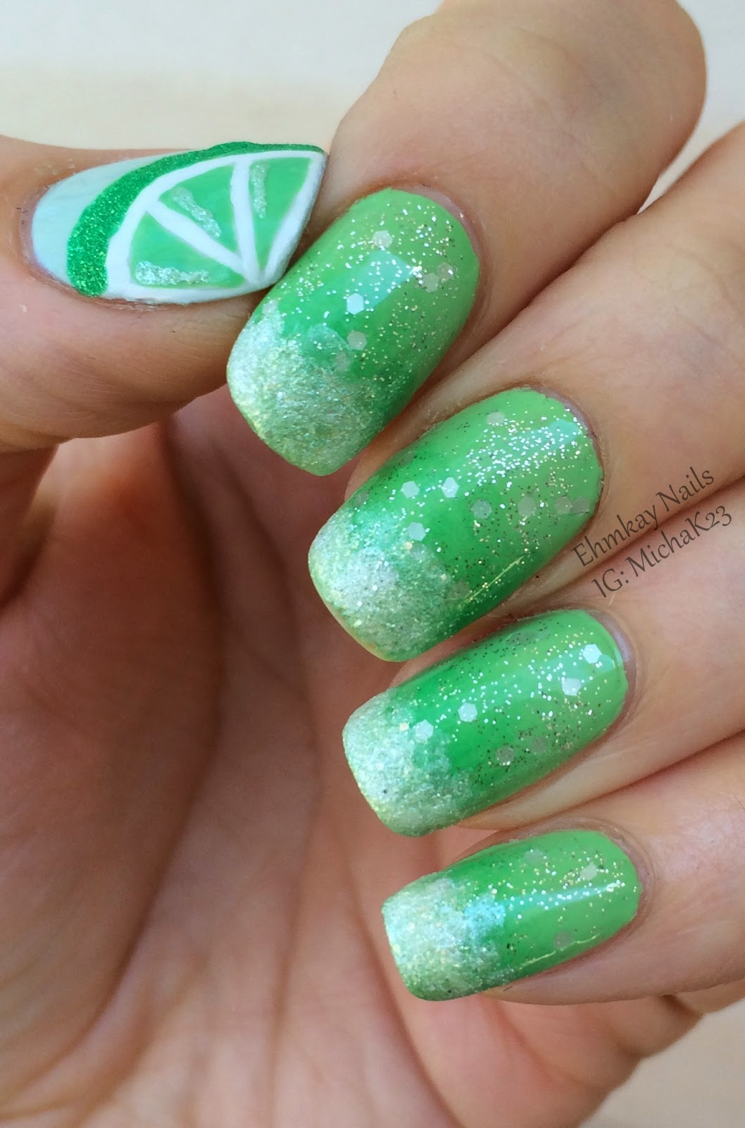 Ehmkay Nails Cinco De Mayo Nails Margarita Nail Art