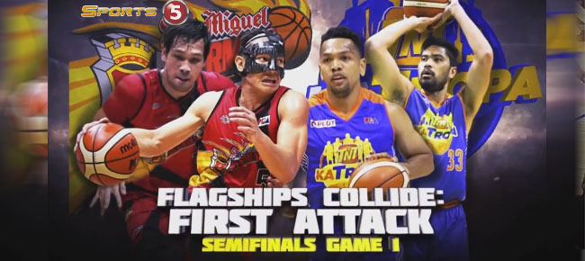 HIGHLIGHTS: San Miguel vs. TNT (VIDEO) February 8 / Semis Game 1
