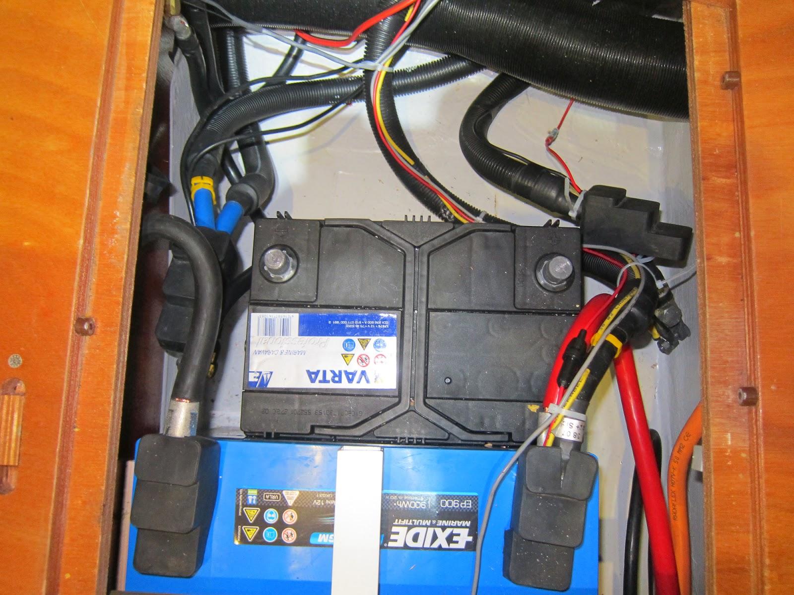 Startbatteri frakoblet