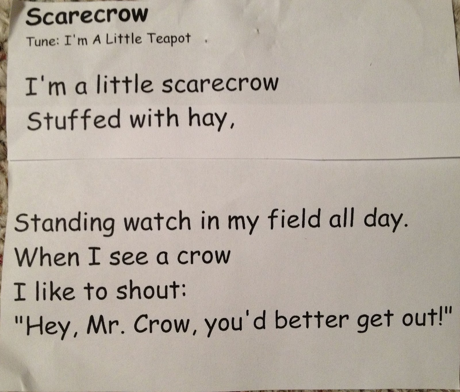 From The Hive Scarecrows Preschool Style