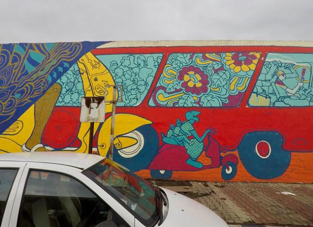 song of city pune street art yerwada jail airport road