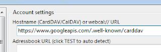 Vul de Google server URL