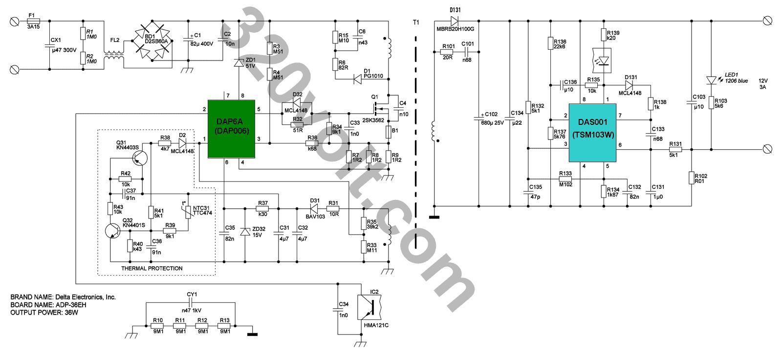 Electrónica y Pc: Reparación de cargadores laptop esquema