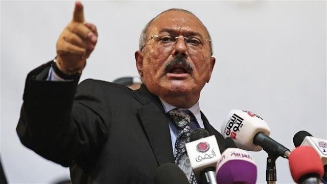 Yemen's former president Ali Abdullah Saleh stresses unity with Houthis against Saudi-led war