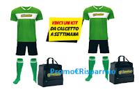 Logo ''Vinci un Kit da Goleador'': in palio 10 kit da calcetto ( magliette, calzoncini, calzettoni e borsoni)