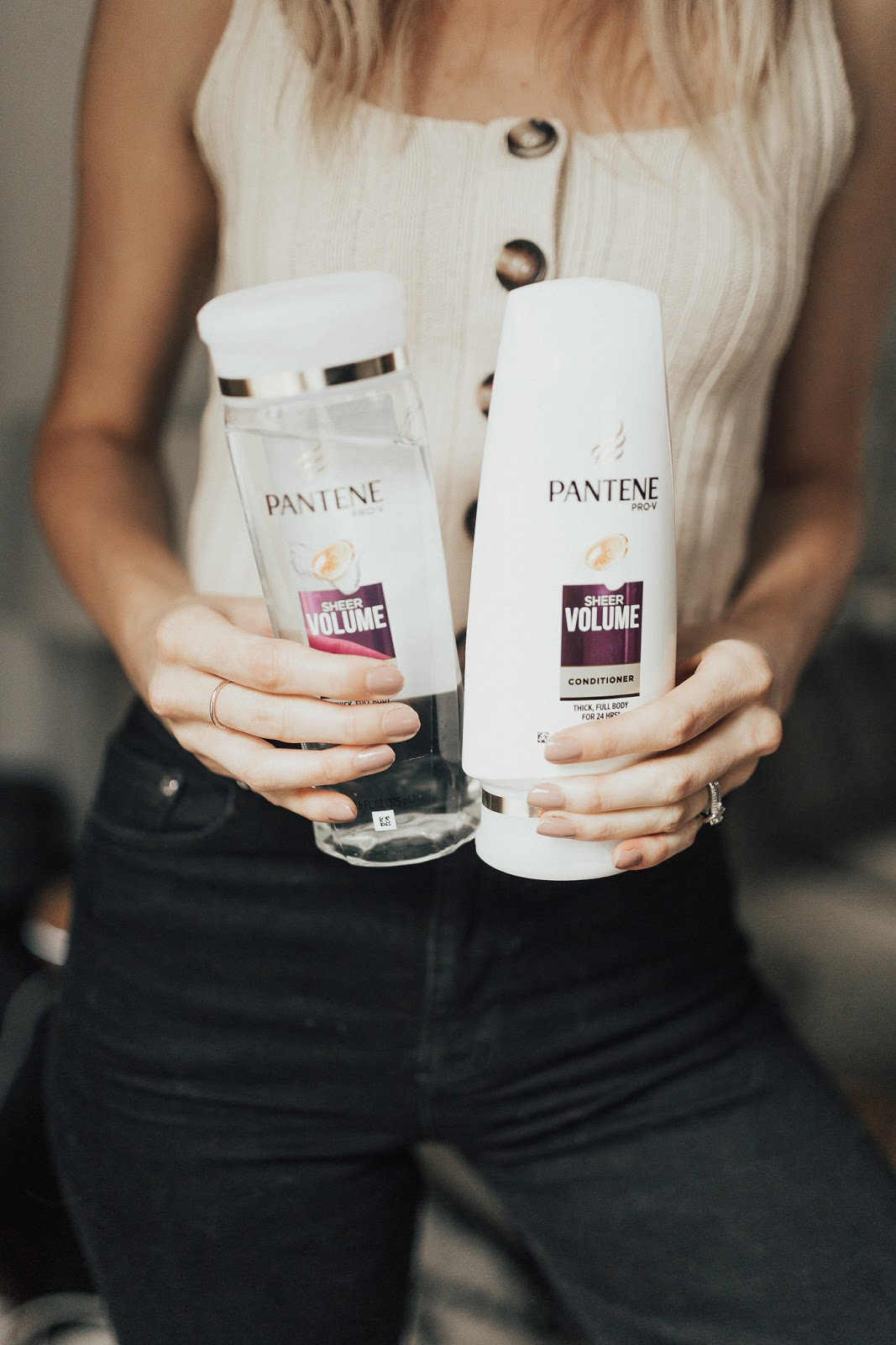 Pantene Sheer Volume Shampoo and Conditioner - give you volume, but also shine