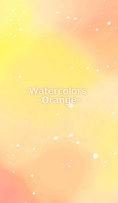 Watercolor -Orange-