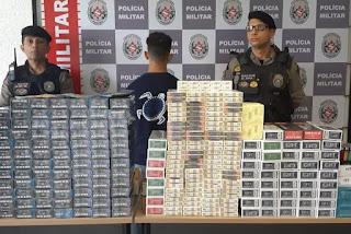 Homem com carga de cigarros contrabandeada é preso em JP