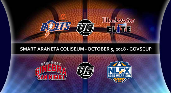 List of PBA Game(s): October 5 at Smart Araneta Coliseum 2018 PBA Governors' Cup