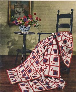 Crochet Block Afghan Pattern, Pennsylvania Dutch