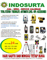 Jual sewa service kalibrasi total station digital theodolite automatic level gps compass suunto compass brunton tripod pole stick polygon