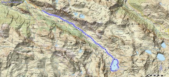 Mapa de la ruta del Valle del Lago