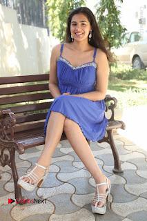 Actress Prasanna Stills in Blue Short Dress at Inkenti Nuvve Cheppu Movie Platinum Disc Function  0174.JPG