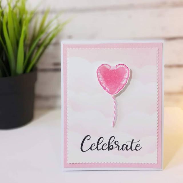 Sunny Studio Stamps: Bold Balloons Customer Card by Maya Barzilay