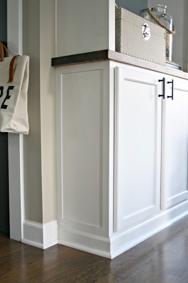 Using kitchen cabinets to build a bookcase