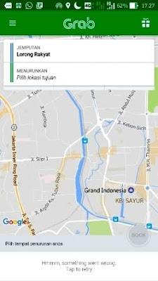 Grab4 peta pada aplikasi grab