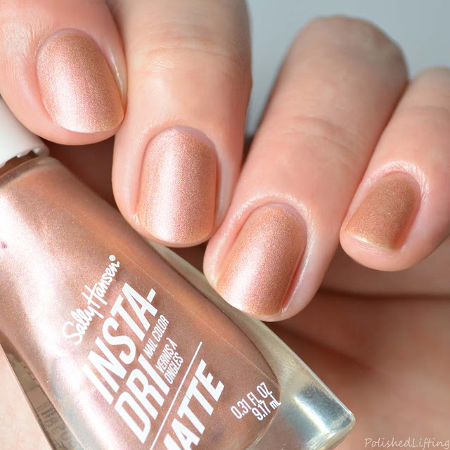 matte rose gold metallic nail polish
