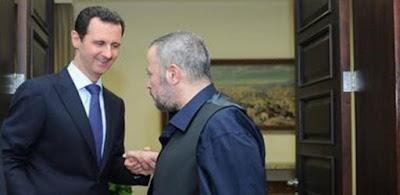 الرئيس بشار الأسد وجورج وسوف