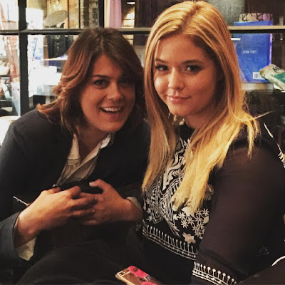 PLL Sasha Pieterse (Alison) and Lindsey Shaw (Paige) bts 7x08