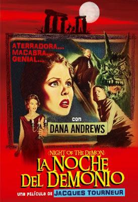 carátula DVD de la noche el demonio dirigida por Jacques Tourneur