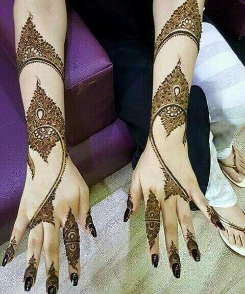 back hand mehndi design photos